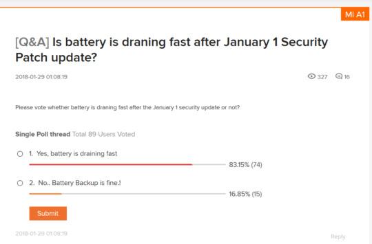 Pengguna Komplain Update Xiaomi Mi A1 Terbaru Menguras Baterai