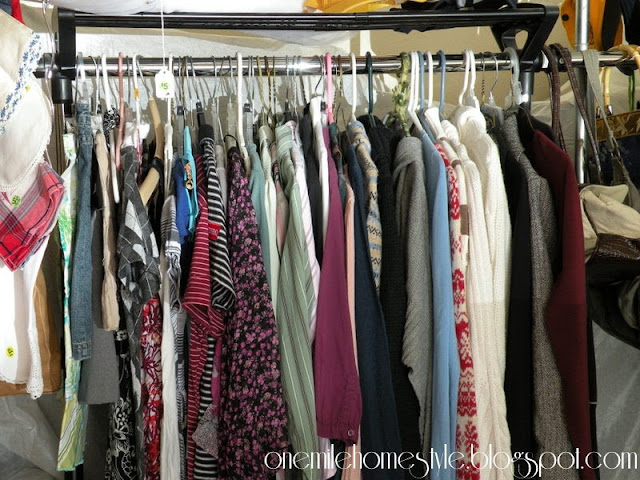 Garage Sale Organization & Tips - Hanging Clothes
