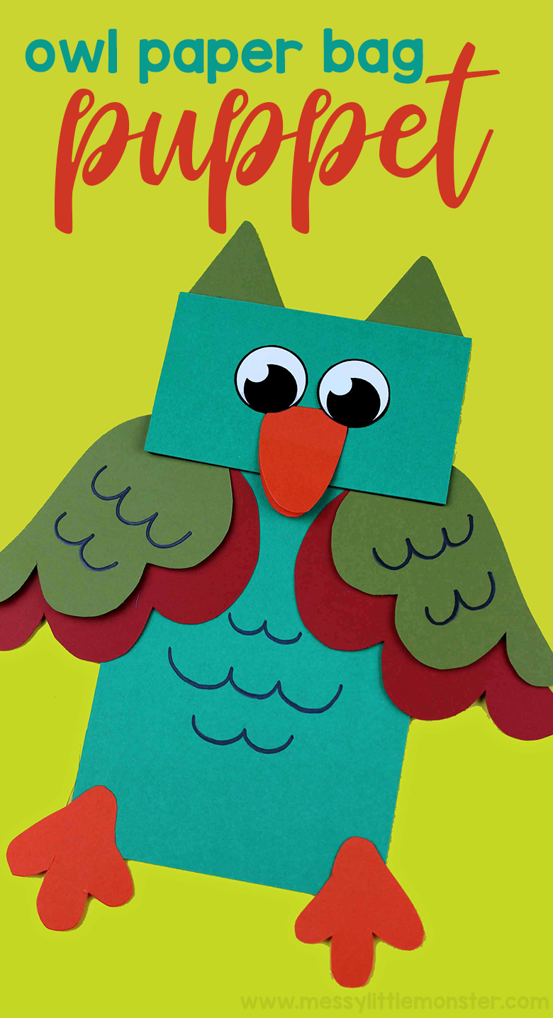 This owl craft for kids is the perfect paper bag craft for anyone wanting to make some adorable animal puppets! we even have a free printable owl pattern included!