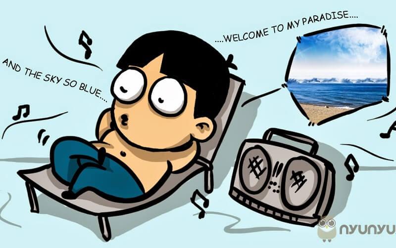 Mendengar radio