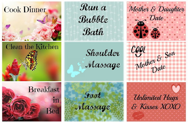 Free Printables, Mother's Day Coupons, Free Personal Use Printable