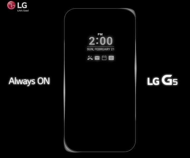 Resmi, LG G5 akan memiliki fitur Always ON