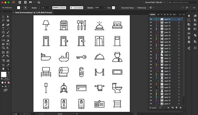Tutorial Cara Mengganti Nama Layer Pada Adobe Illustrator SecaraOtomatis