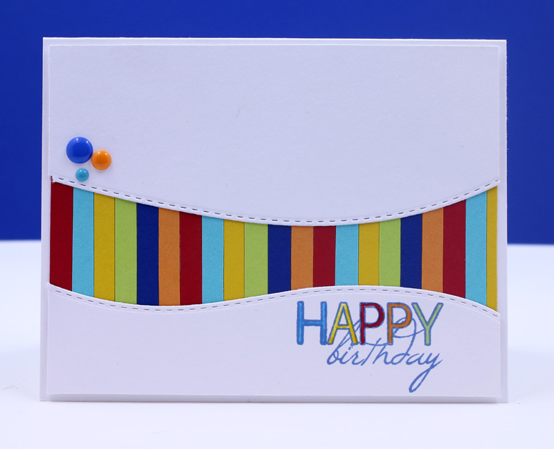 Taylor Stamped A Colorful Birthday Card
