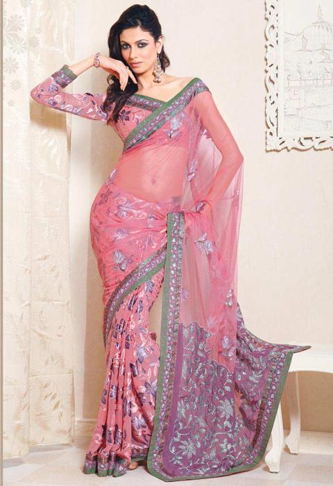 contoh baju sari india asli