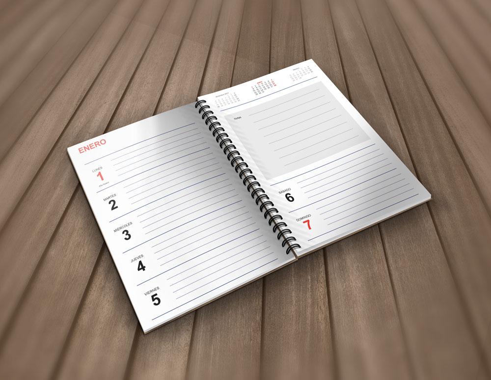 muckup agenda 2018 gratis