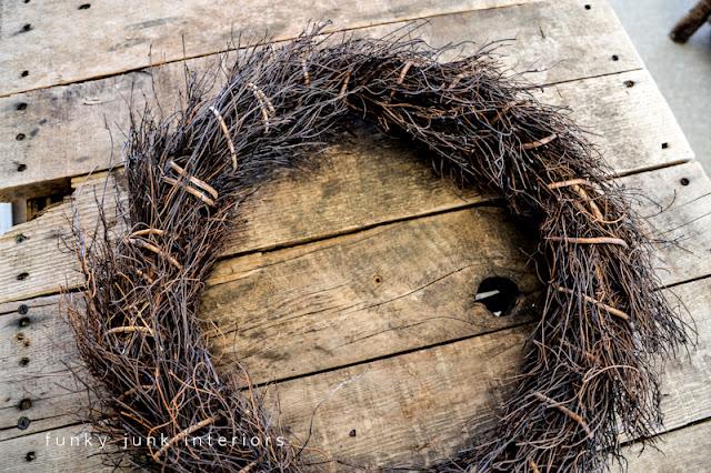 twiggy wreath