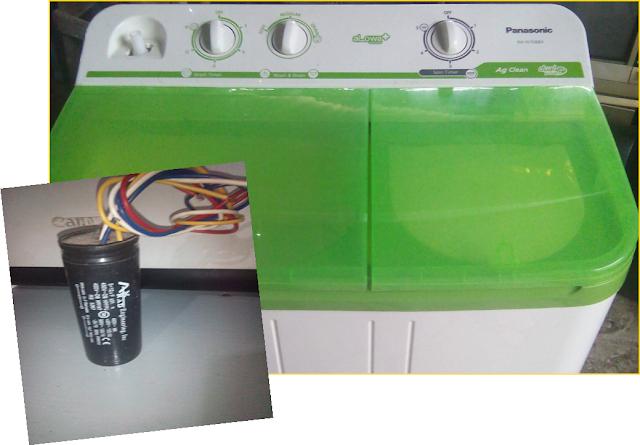Perbaiakan Kerusakan bagian Pengering pada Mesin Cuci Listrik