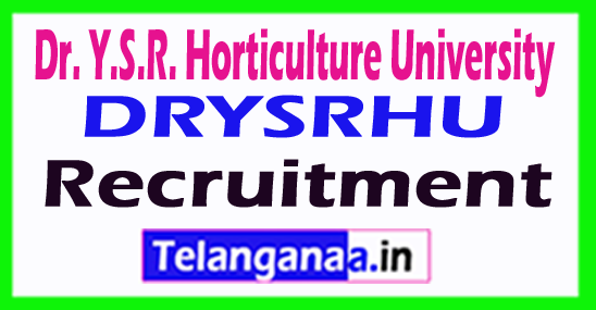 Dr. Y.S.R. Horticulture University (DRYSRHU) Recruitment