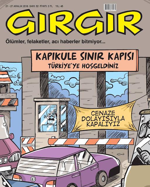 Gırgır Dergisi | 21-27 Aralık 2016 Kapak Karikatürü