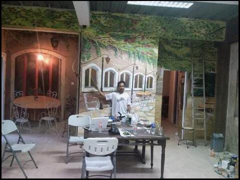 Lukisan Abstrak Pohon