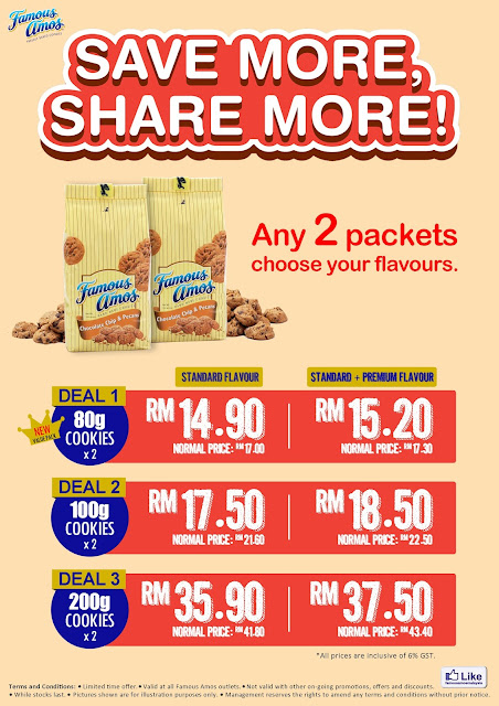 Famous Amos Malaysia Cookies Promotion