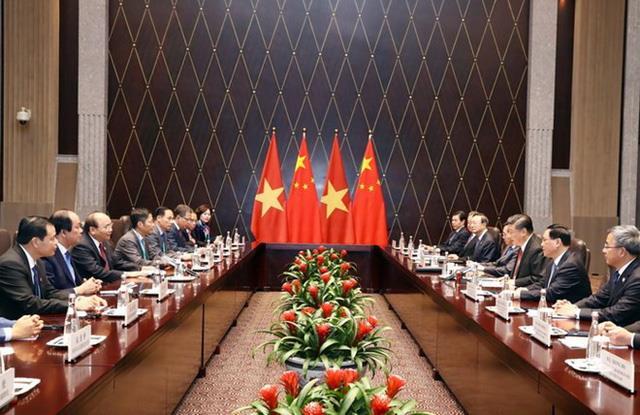 Cuộc hội kiến giữa Thủ tướng Nguyễn Xuân Phúc và Chủ tịch Trung Quốc Tập Cận Bình
