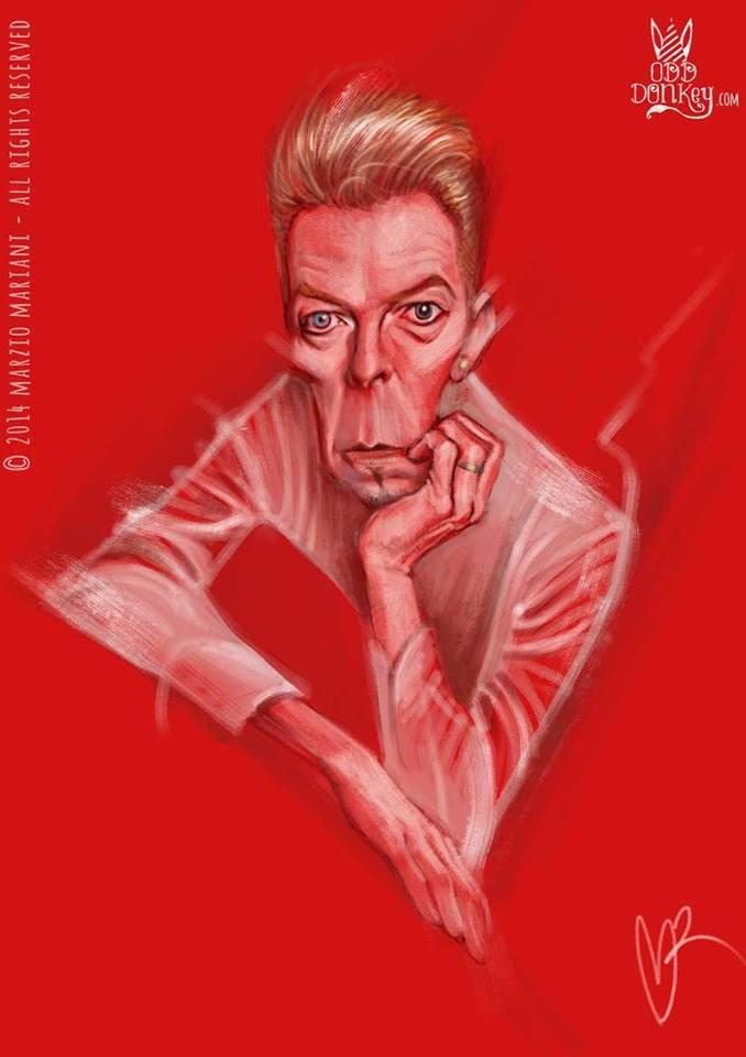 David Bowie por Marzio Mariani