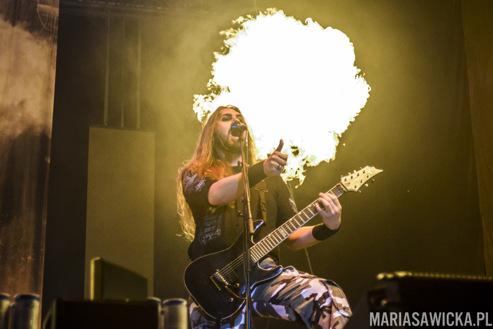 Sabaton Chris Rörland fire pyrotechnics Czad Festiwal