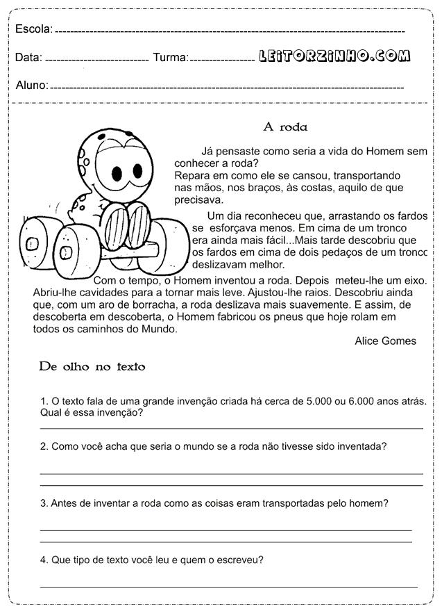 Leitores Atividades De Portugues 4 Ano Interpretacao De Texto