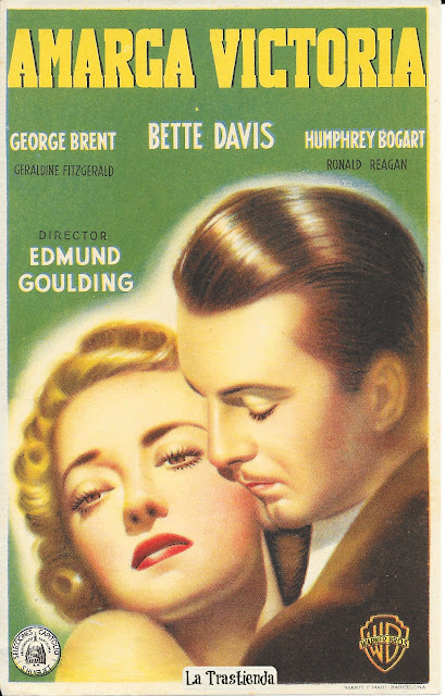 Amarga Victoria - Programa de mano - Bette Davis - Humphrey Bogart - George Brent