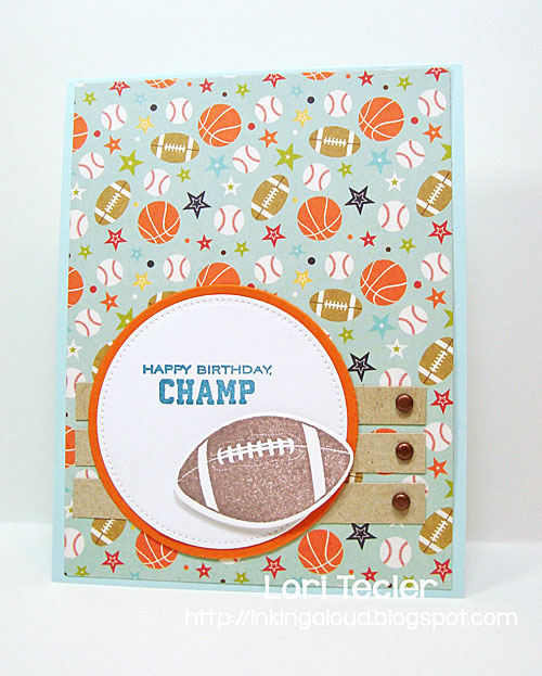 Happy Birthday, Champ card-designed by Lori Tecler/Inking Aloud-stamps from Papertrey Ink