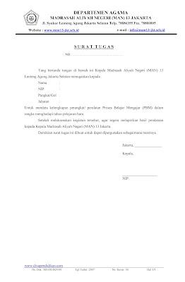 Download Format Surat Tugas Pendataan Perangkat Proses Belajar Mengajar (PBM)