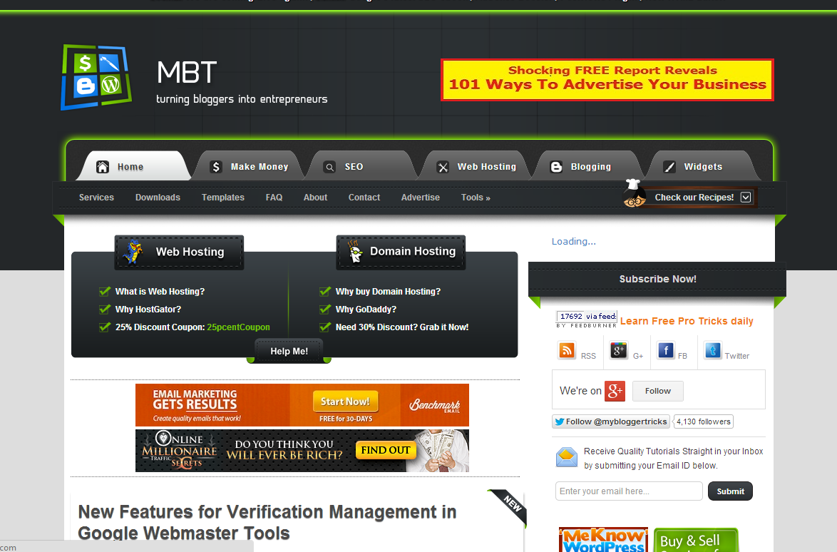 MBT Like Blogger Template