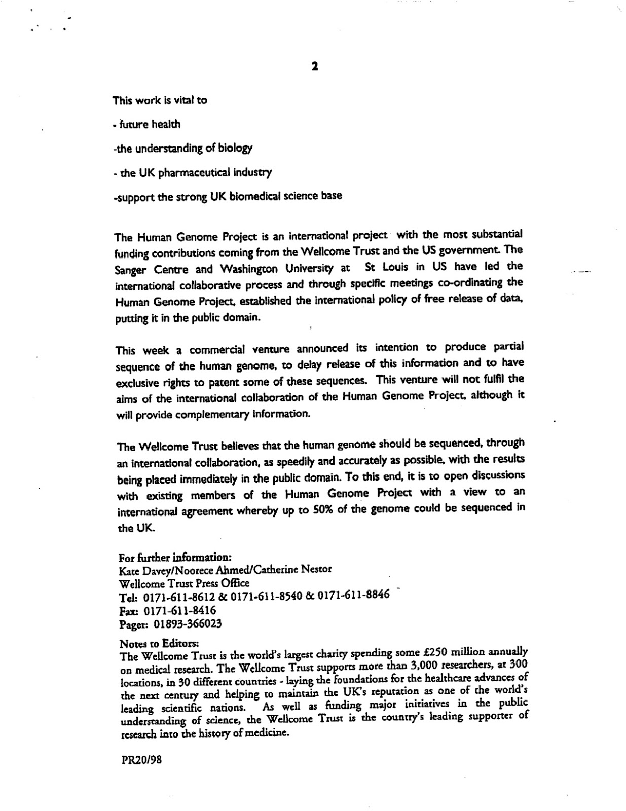 press release cover letter