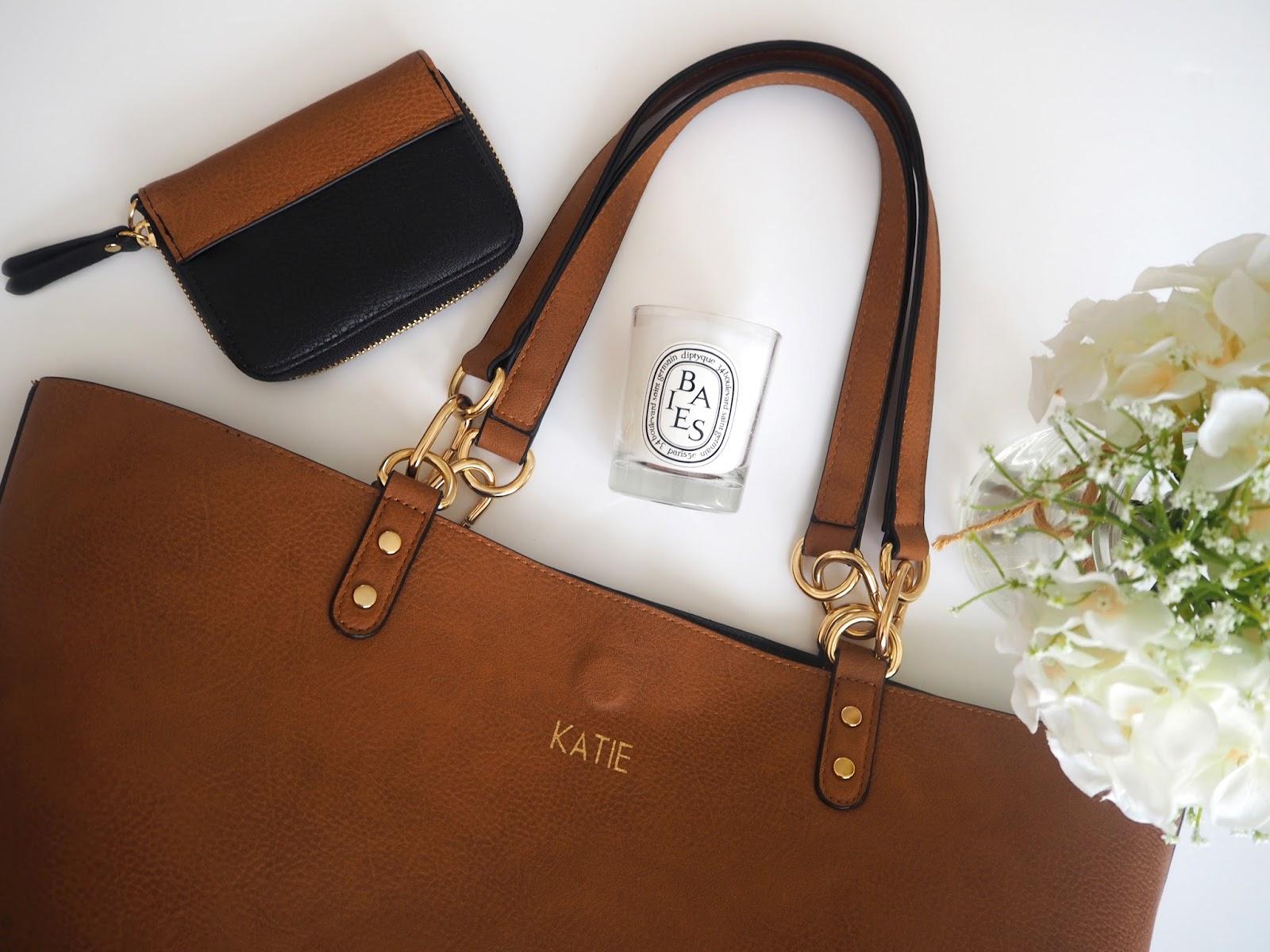 Oasis Love Letters Monogrammed Bags, Katie Kirk Loves, Personalised Bag, UK Blogger, UK Fashion Blogger, Monogramming, Oasis Fashion, Christmas Gift Idea