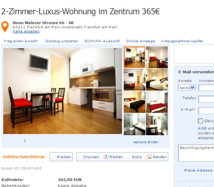 informationen ber wohnungsbetrug informations about rental scam seite 293. Black Bedroom Furniture Sets. Home Design Ideas