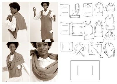Chaleco Elementum transformable en 5 prendas diferentes