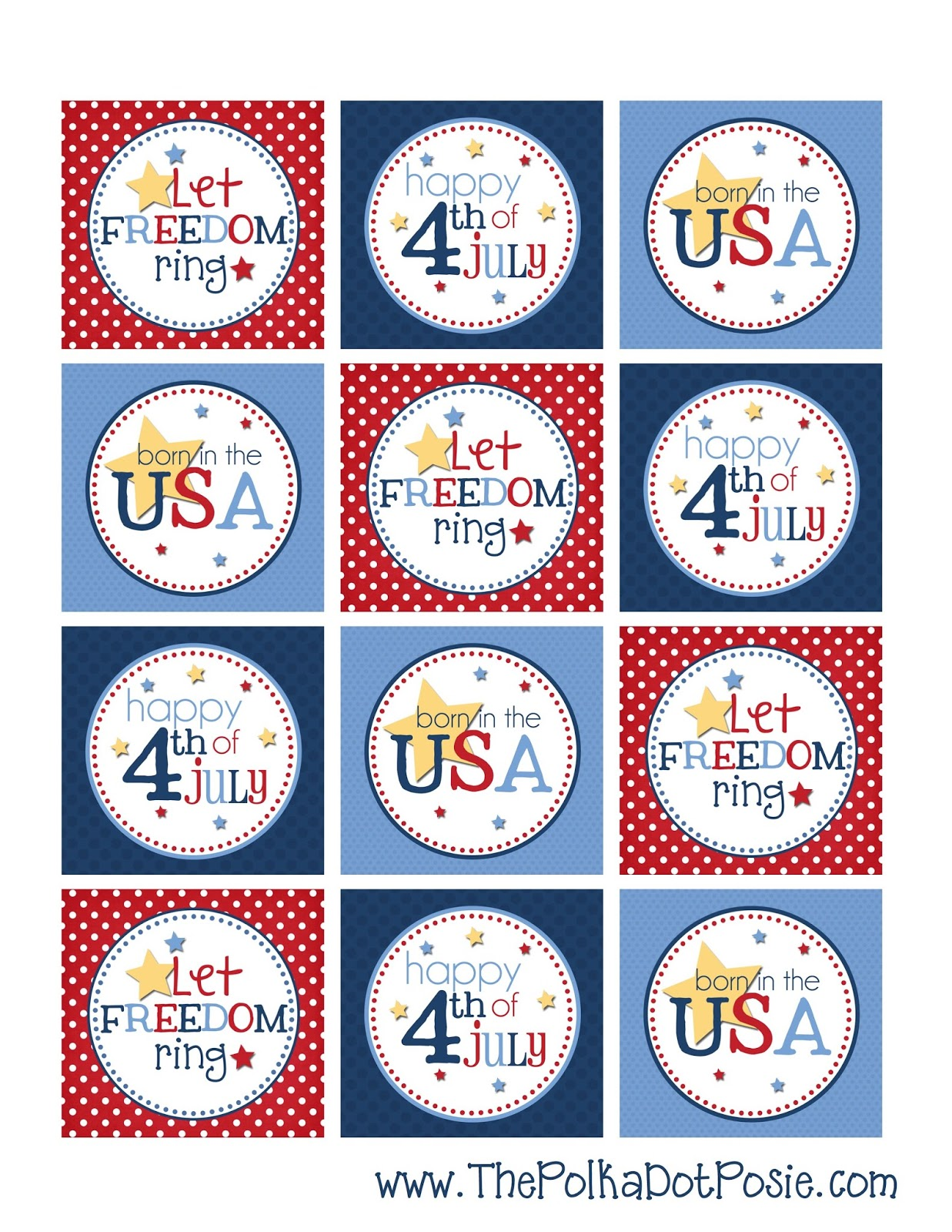 The Polka Dot Posie Free 4th Of July Printable