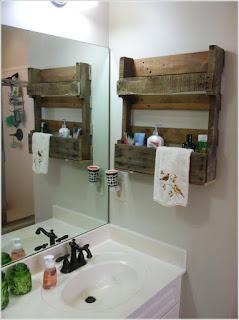 decorar baño con palets