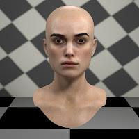 3d model Keira Knightley head V2