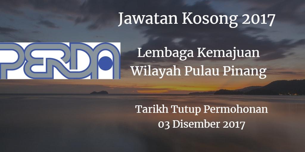 Jawatan Kosong PERDA 03 Disember 2017