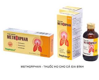 Thuốc ho methorphan có dạng viên nén và siro