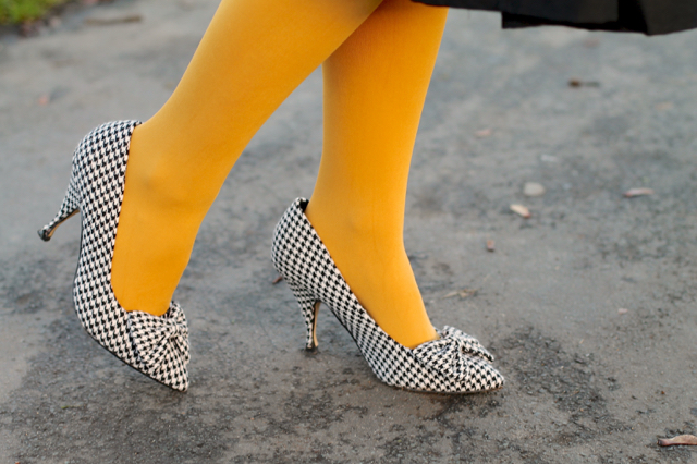 Lindy Bop houndstooth shoes