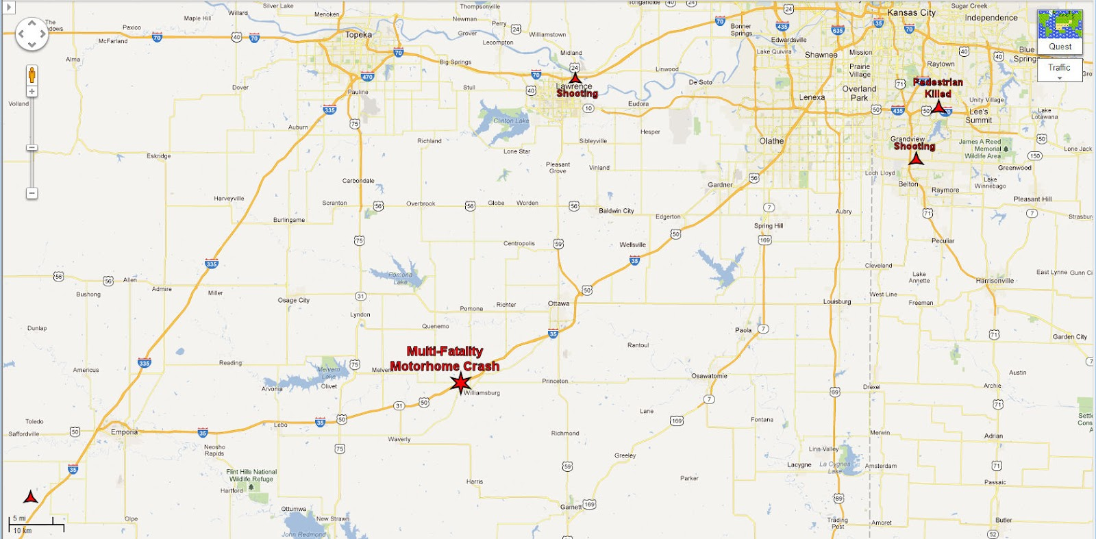 Capt  Spaulding's World: Five Killed in Crash on I-35 in