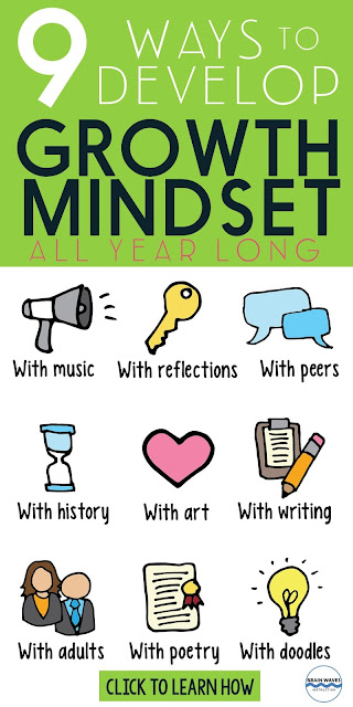 Ready to teach growth mindset all year long? Then, you'll love this collection of growth mindset activities and ideas. You'll find links to free growth mindset lessons and tons of inspiration!
