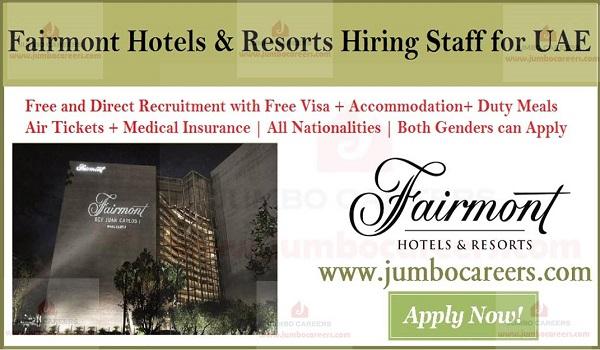 Hotel jobs in UAE, Available job vacancies in UAE,