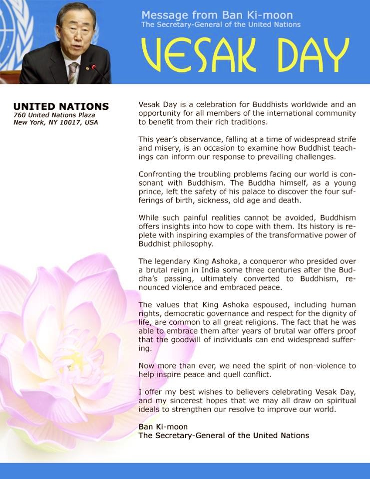 Vesak Day - Message from Ban Ki-moon thumbnail