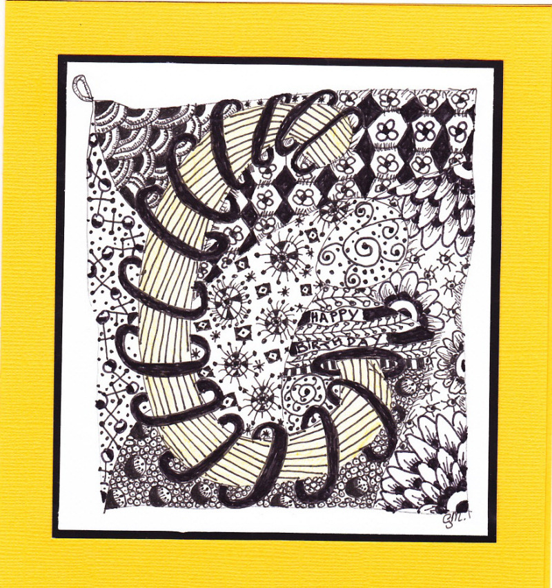 A Little Bit Of This And A Little Bit Of That: Zentangle