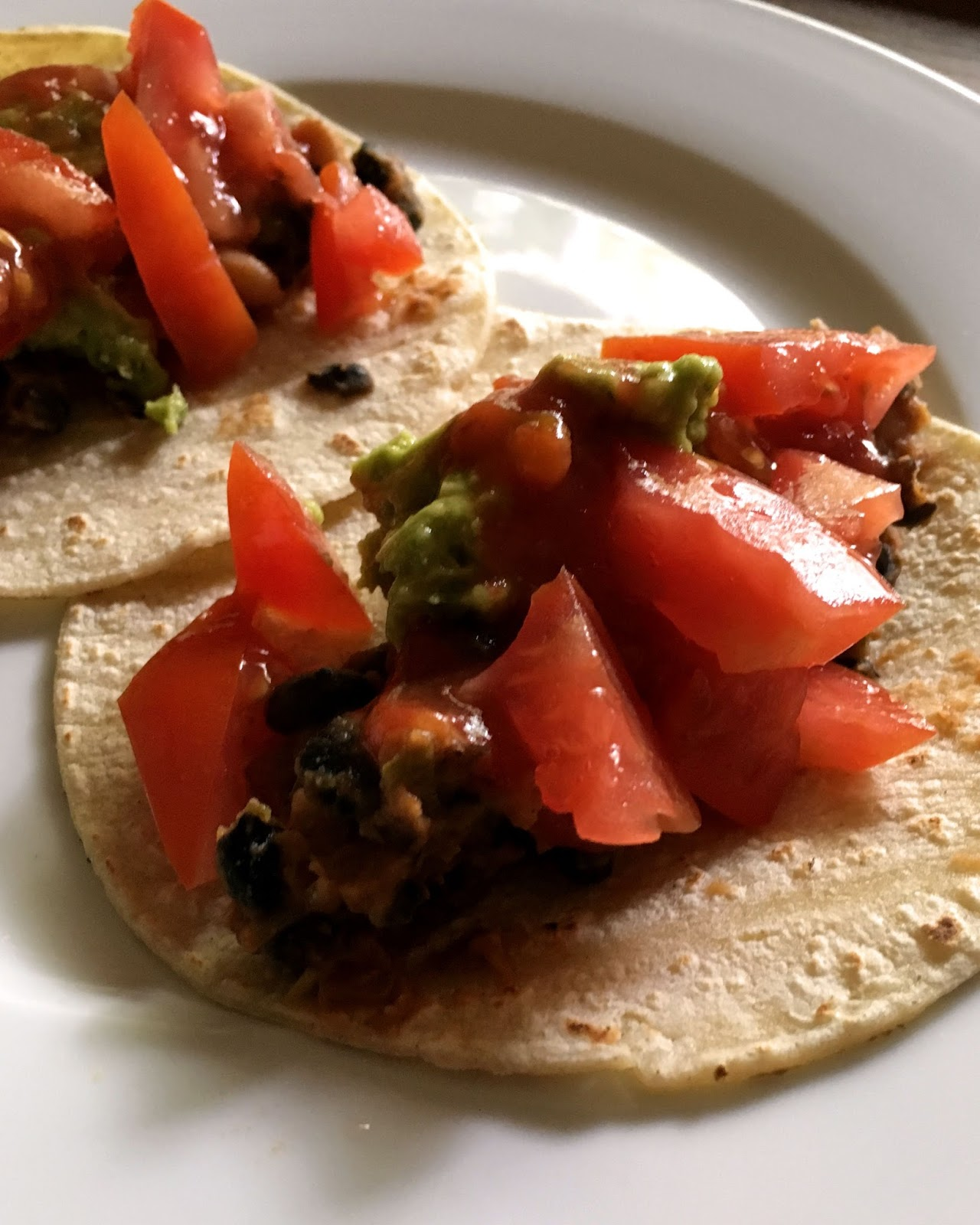 Sublimely Simple : Delicious Black Bean and Guacamole Tacos!