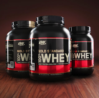 Optimum Nutrition Gold Standard 100% Whey.Has 24 gm of Whey protein per serving