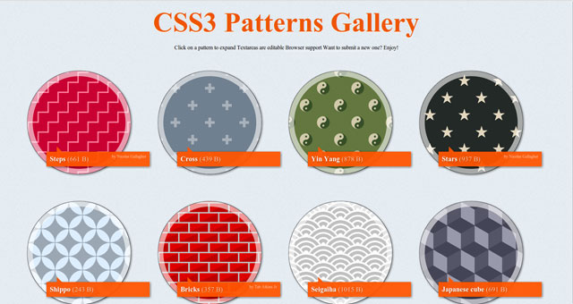 Tạo màu nền background đẹp bằng CSS3 (CSS3 Patterns Gallery)
