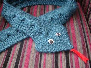Snake Skin Scarf Knitting Pattern
