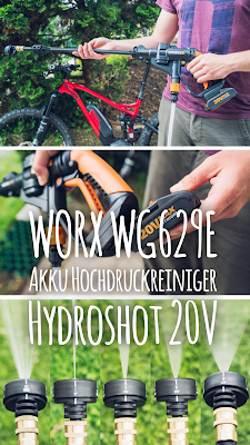 Gear of the Week #GOTW KW 21 | WORX WG629E Akku Hochdruckreiniger Hydroshot 20V/Mobiler Hochdruckreiniger inkl. Multi-Sprühdüse 20V Li-Ion Akku