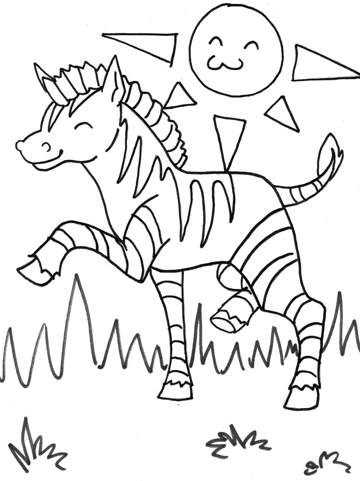 animal kids coloring pages zebra coloring pages