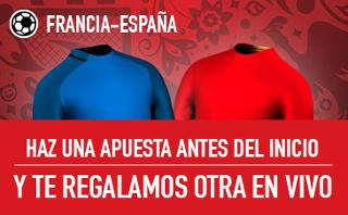 sportium apuesta gratis apostando Francia vs España 28 marzo