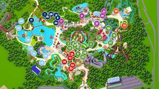 Plano del Parque Astérix.