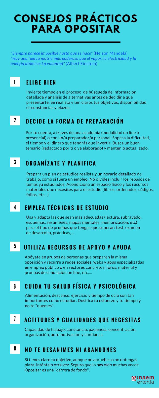 infografía cómo preparar una oposición