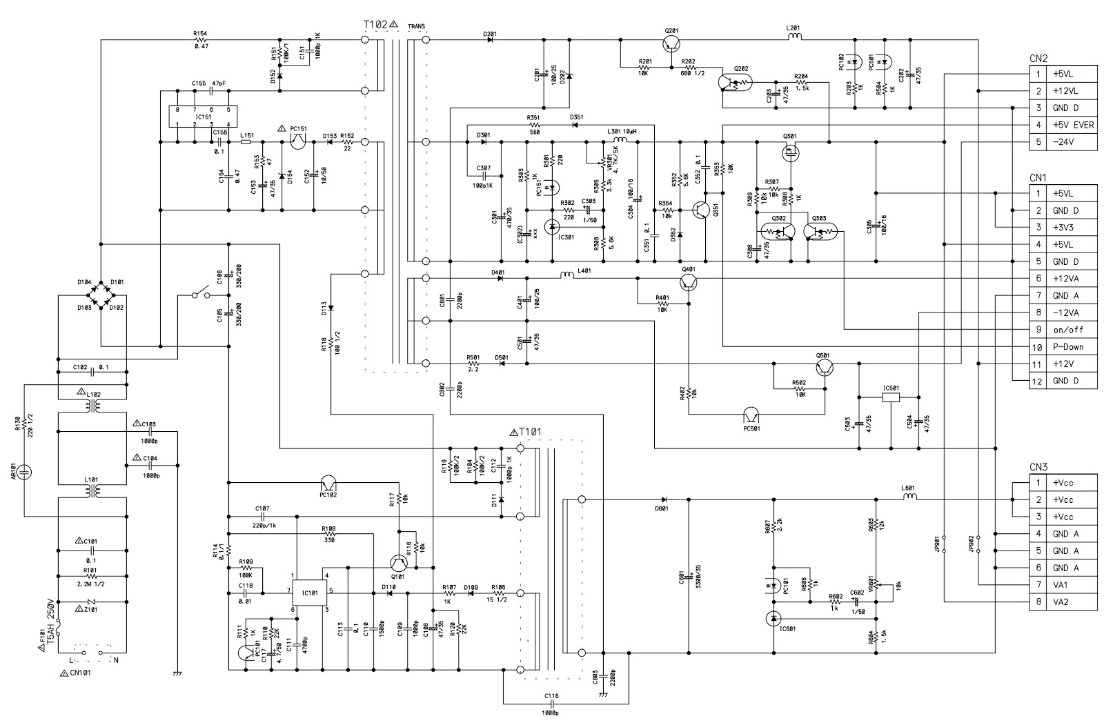 Philips Hts3105mki Hts3105mkii Smps And Main Amplifier Circuit Diagram