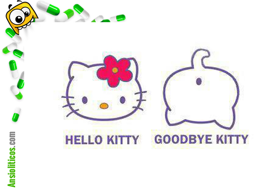 Chiste de Hello Kitty - Goodbye Kitty